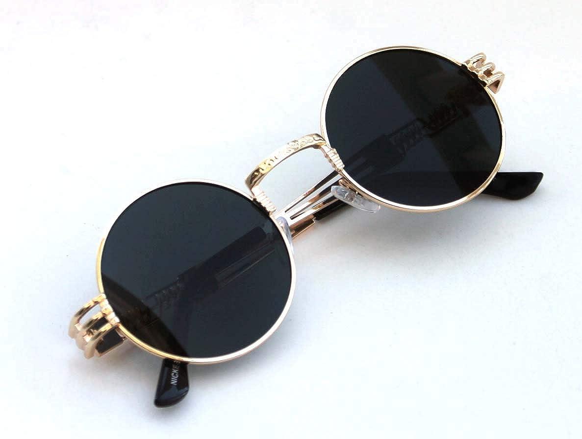 Amazon.com: Gafas de sol para hombre con forma redonda Bad y ...