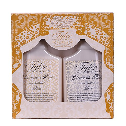 (TYLER Candle Glamorous Hand Bath and Shower Gift Set, Diva)