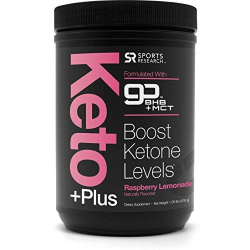 NEW! Keto Plus MCT Oil + Exogenous Ketones (BHB) ~ Caffeine free energy to help enhance Ketosis, Fat Burning, Performance & Focus ~ Vegan & Keto diet friendly, Non-GMO (Raspberry Lemonade)