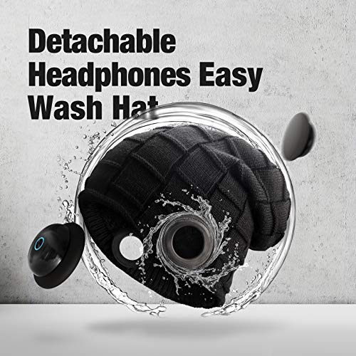 OCOOPA Bluetooth Beanie Hat, Superior Sound with Bluetooth 5.1 Wireless Headphones, All-Day Playtime, IPX5 Waterproof, Detachable Design, Great for Men and Women