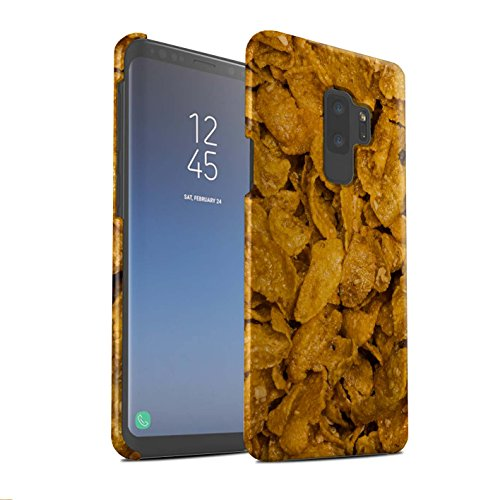 Crunchy Collection (STUFF4 Matte Hard Back Snap-On Phone Case for Samsung Galaxy S9 Plus/G965/Crunchy Nut Design/Breakfast Cereal Collection)