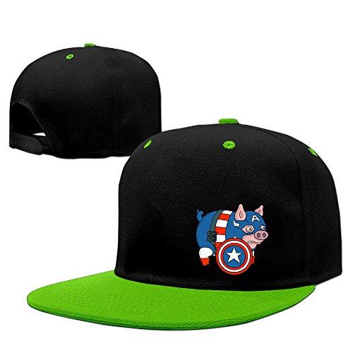 MYDT1 Unisex Captain Pig Adjustable Hip Hop Baseball Caps - Minion Custome