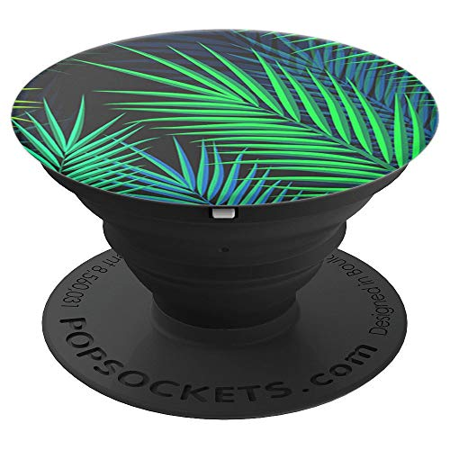 Stand Collapsible - Midnight Palms - Palm leaves print - PopSockets Grip and Stand for Phones and Tablets