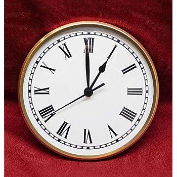 "New Aluminium Clock Dial//Face 6/""//152mm White with Black Arabic Numerals"