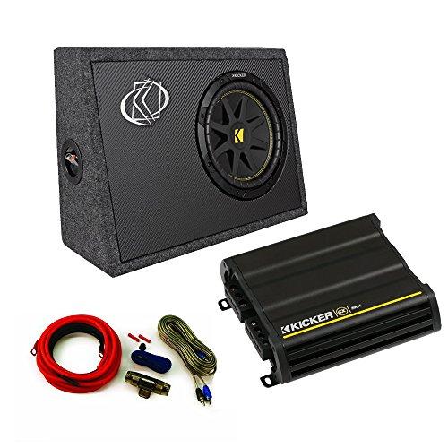 Kicker Truck Bundle with 10TC102 Box + 12CX3001 Amplifier + Amp kit