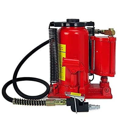 Stark Hydraulic 20 Ton Air Bottle Air-Operated Bottle Jack Lift Portable Low Profile Manual Jack Air Jack with Handle: Home Improvement