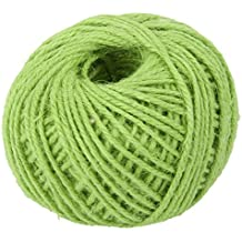 Yonger 50M Natural DIY Wrap Jute Twine Cooking String Rope for Trussing and Tying Poultry and Meat Making Sausage,Good for Arts Crafts and Garden Light Green