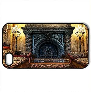 Chimney in Florida Hotel - Case Cover for iPhone 4 and 4s (Watercolor style, Black)