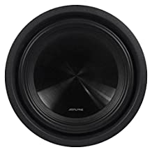 """Alpine SWT-10S2 10"""" Single 2-Ohm 1000 Watts Peak/350 Watts RMS Shallow Mount Car/Truck Subwoofer with a Kevlar Reinforced Pulp Cone"""