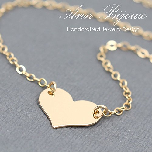 (Charlize Theron Replica Heart Necklace, Gold Filled Heart Necklace, Love Charm Chain Necklace, Gold Filled Heart Chain Necklace )