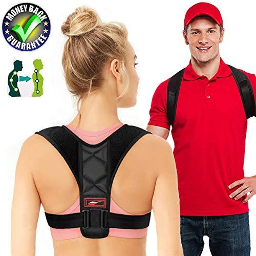 Posture Corrector For Women Adjustable Posture Corrector For Men Neck Pain Relief Back Posture Brace Kyphosis Brace Effective And Posture Support (Posture Corrector Black, Posture Corrector 26 - 46)