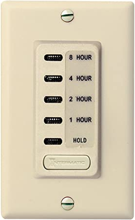 15 Amp 1-2-4-8 Hour In-Wall Countdown Digital Timer Fit Single Switch White