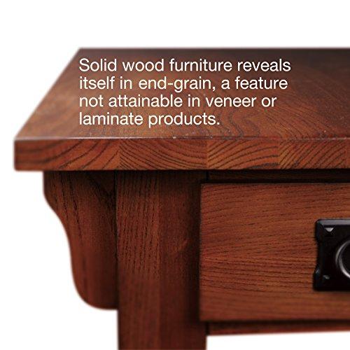 Leick Furniture Mission Chairside Table, Medium Oak