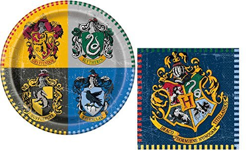 Harry Potter Birthday Party Plates And Napkins Set - Serves 8 (Harry Potter Plates And Napkins)