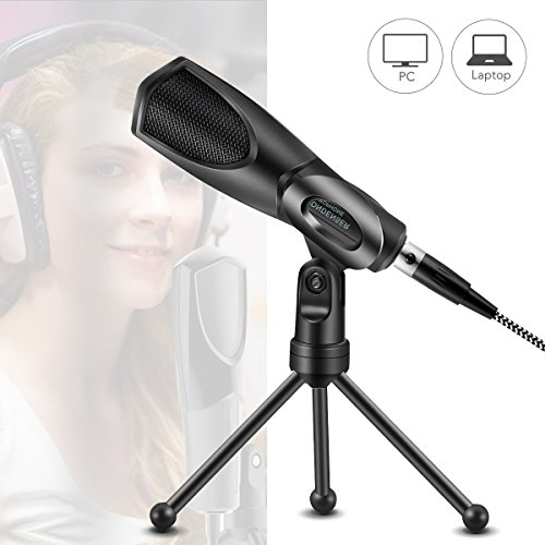 MODAR USB Microphone, Audio Condenser Mic Microphones Desktop for Laptop Computer PC, Perfect for Skype Chattingdeal for Podcasting Home Studio Recording and Gaming Use by MODAR