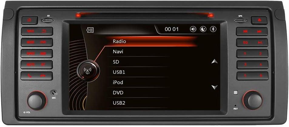 Iauch 17 8 Cm Schrecken 6 0 Single Din In Dash Auto Stereo Head Unit Sat Nav Mit Dvd Player Gps Navigation Bluetooth Gps Radio Für Bmw E39 5 Serie Serie X5 E53 E38