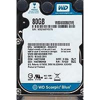 WD800BEVE-00A0HT0, DCM HHCT2HBB, Western Digital 80GB IDE 2.5 Hard Drive