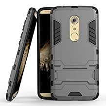 ZTE Axon 7 Hybrid Case, ZTE Axon 7 Shockproof Case, Dual Layer Protection Hybrid Rugged Case Hard Shell Cover with Kickstand for 5.5'' ZTE Axon 7 [Not fit 5.5'' ZTE Axon or Axon 7 mini]