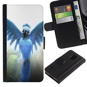 Stuss Case / Funda Carcasa PU de Cuero - Pájaro del ángel - Samsung Galaxy S5 V SM-G900