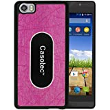 Casotec Metal Back TPU Back Case Cover for Micromax Canvas Fire Plus 4G Q412 - Pink