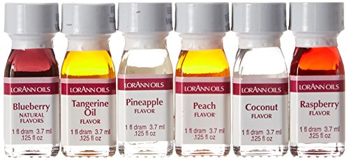 Lorann Oils 1 Dram Fruit Flavor (Pack of 6) - Dram 6 Pack FF#2 ()