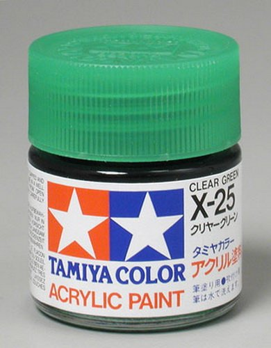 Tamiya Acrylic X25 Gloss,Clear Green TAM81025