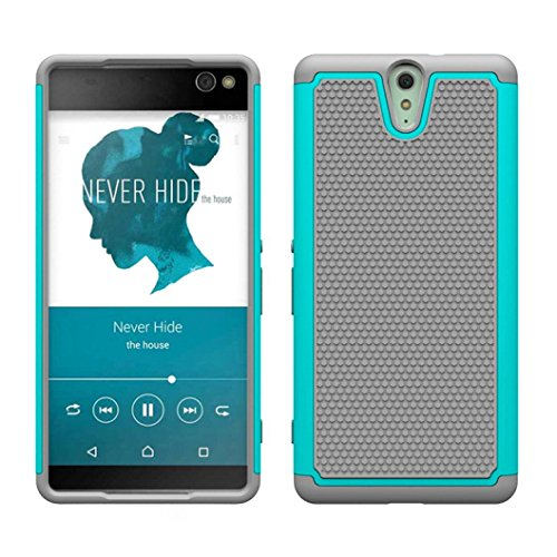 creazyr-hybrid-impact-rugged-shockproof-back-case-cover-skin-for-sony-xperia-c5-ultra-grey