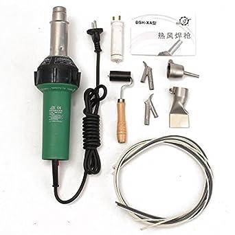 KINWAT 1 pieza de soldador de aire caliente de plástico + 4 boquillas con presión,