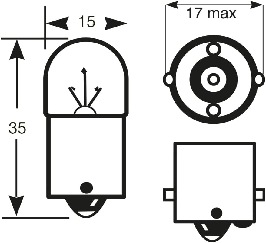 Set de 2 24/V 5/W Ring rw149/Lampe R5/W
