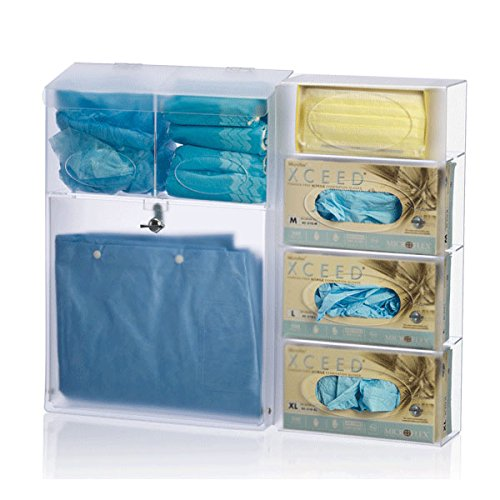 All In One Ppe Dispenser 23 Quot W X 4 5 Quot D X 21 25 Quot H Buy