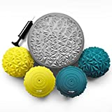 Yes4All Rocky Balance Pods and Balance Disc Set – Sensory Balance Pods/Hedgehog Balance Pods/Stepping Stones for Children and Adults