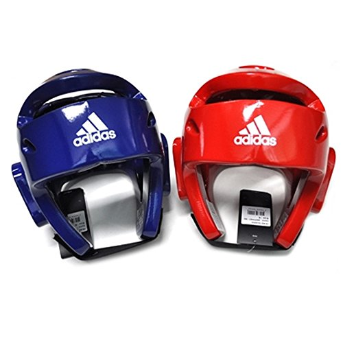 adidas Taekwondo Headgear 2 Color WTF Approved Head Guard S to XL (Red, Medium)