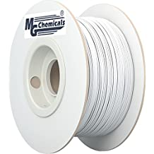 MG Chemicals ABS 3D Printer Filament, 3.0mm, 1kg, White (IMPROVED)