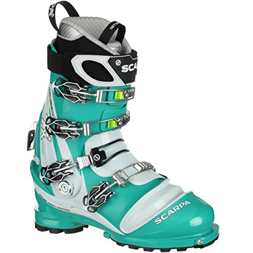 Scarpa TX Pro Telemark Boot - Women's Emerald/Ice Blue, 24.5 by SCARPA
