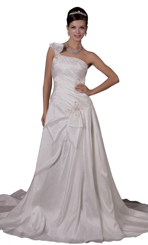GEORGE BRIDE Glamorous One-shoulder Taffeta Wedding Dress