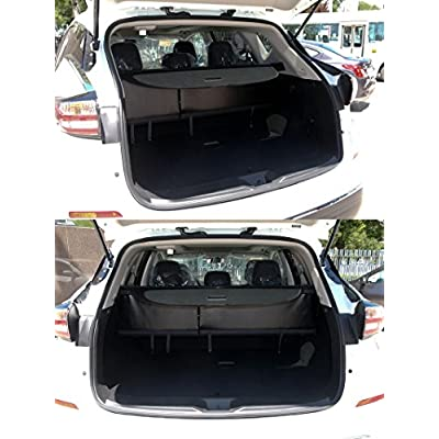 Vesul Black Tonneau Cover Rear Trunk Cargo Luggage Security Shade Cover Fits on Nissan Murano 2015 2016 2020 2020 2020 2020: Automotive