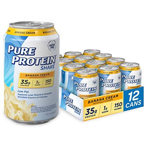 Pure Protein 35g Shake - Banana Cream, 11 ounce, 12 Count