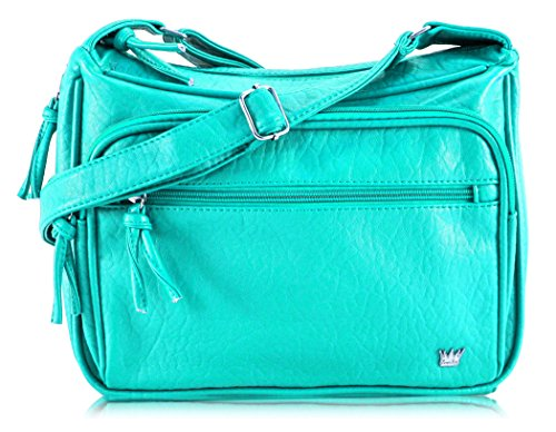 23f1a791ec1 Purse King Magnum Concealed Carry Handbag (Turquoise)