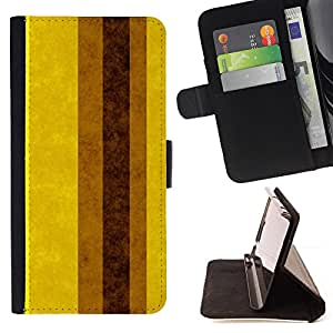 """For Motorola Moto E ( 1st Generation ),S-type Tierra Brown amarillas Líneas Rayas"""" - Dibujo PU billetera de cuero Funda Case Caso de la piel de la bolsa protectora"""