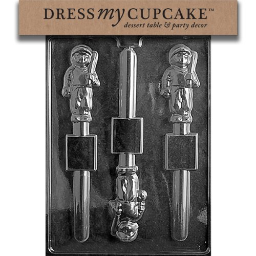 Dress My Cupcake DMCS078 Chocolate Candy Mold, Baseball Player Pretzel