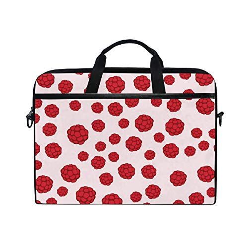 Laptop Case, Berry Pattern Computer Sleeve Protective Bag 3 Layer with Durable Zipper for Lenovo Hp MacBook Pro Neoprene Notebook 14 15 15.4 - Inch Berry 15.4