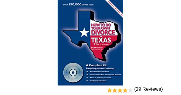 How to do your own divorce in texas a complete kit ed sherman how to do your own divorce in texas a complete kit ed sherman 9780944508633 amazon books solutioingenieria Image collections