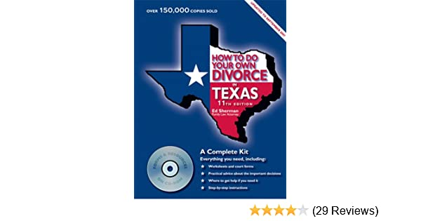 How to do your own divorce in texas a complete kit ed sherman how to do your own divorce in texas a complete kit ed sherman 9780944508633 amazon books solutioingenieria Choice Image