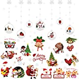 LUTER Christmas Window Clings PVC Stickers Window Wall Stickers Christmas Decorations Party Supplies for Christmas Home Shop Party(70+ Pcs)