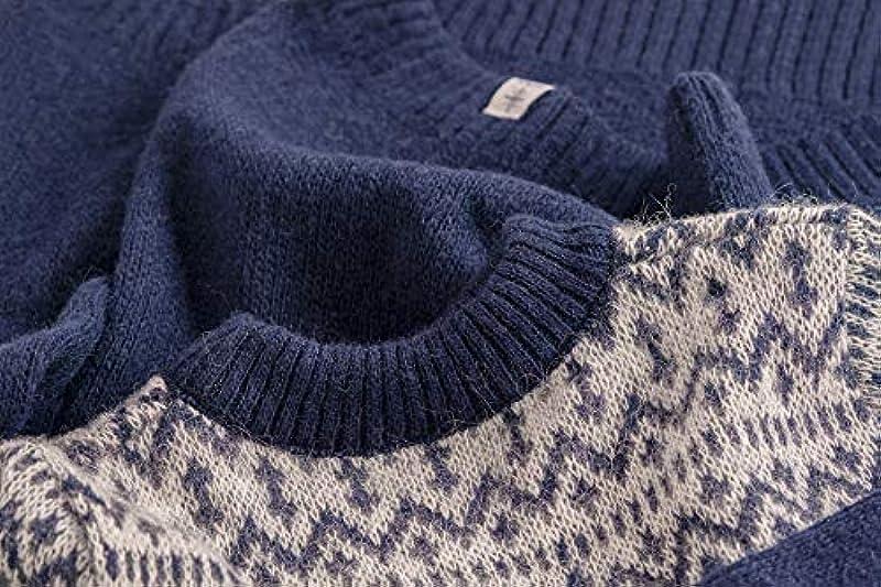 kidka męski/damski sweter wełniany ze 100% wełny - niebieski: Odzież
