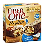 Fiber One Protein Chewy Bars Coconut Almond 5.85 OZ (Pack of 24)