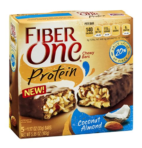 Fiber One Protein Chewy Bars Coconut Almond 5.85 OZ (Pack of 24) by Fiber One