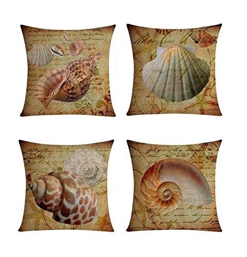【Bailand】Set of 4 Nautical Sea Side Theme Cushion cover,Sofa
