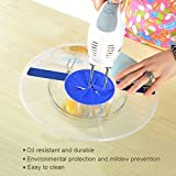 SOPHISTICATE Egg Bowl Whisks Screen Cover Plastic Beat Eggs Cylinder Baking Splash Guard Bowls Lids Cookware Kitchen Cooking Tool Hot: Clear