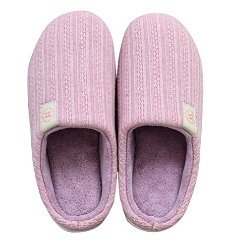 Memory Foam Slip Women AGOWOO House Purple for Slippers Anti Fuzzy 1xqaw4WEwn